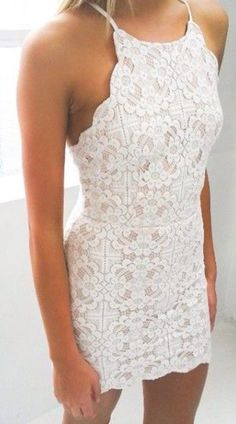 dress lace dress white dress white lace dress romantic summer dress floral dress birthday dress pretty summer dress white lace white lace summer dress cute cute dress cute dresses mini dress lace white white tumblr outfit fashion teenagers style sweet nice dress nice beautiful short tight classy homecoming dress halter neck