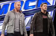 Former World Champions Edge & Christian are in charge of SmackDown tonight. Female Wrestlers, Wwe Wrestlers, Christian Cage, Adam Joseph, Wwe Edge, Adam Copeland, Usa Network, Wwe Superstars, In A Heartbeat