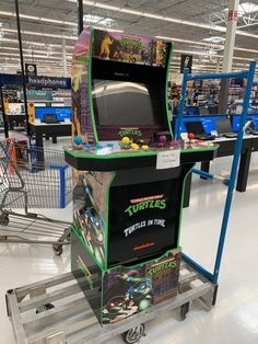 My TMNT mod with info on getting the buttons laid out and drilling out the deck protector. Retro Arcade Games, Mini Arcade, Pinball, Tmnt, Ninja, Drill, Action Figures, Turtle, Deck