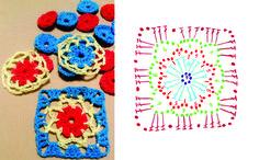 crochet lacy square pattern