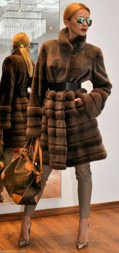 Royal Saga..Mocha Mink/Sable/Chinchilla blended chic stroller.