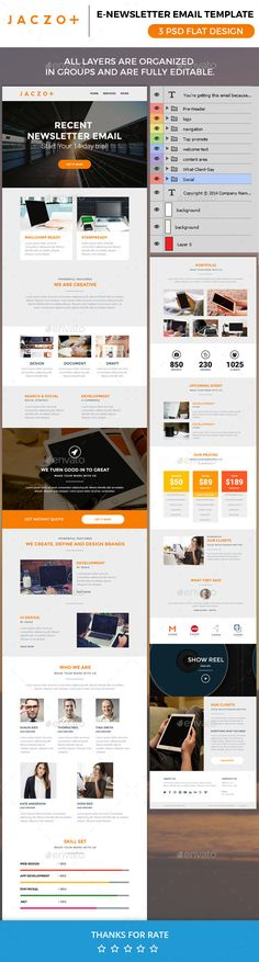 20 Best Flat Style Responsive Email Templates Newsletter - email newsletter template