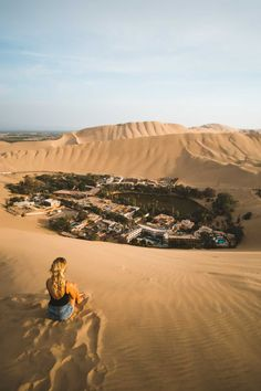 The stunning Huacachina Oasis city in Peru - check out our guide for more info! Huacachina Peru, Peru Travel, South America Travel, Top Destinations, Travel Aesthetic, Travel Goals, Wonders Of The World, Travel Guide, Travel Inspiration
