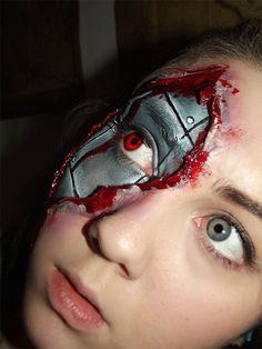 Realistic Cyborg Makeup bykikimj