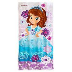 Disney Store Sofia the First Princess Beach Bath Towel Ne...