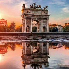 Milan, sun, travel, travelersnotebook, travelling, beautiful, architecture, Italy