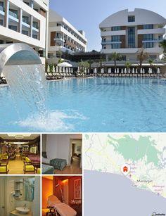 L'hotel dista soli 150 m dalla spiaggia di sabbia privata nel centro of Evrenseki, a 7 km dal rinomato resort di Side. A pochi metri di distanza è possibile raggiungere vari mezzi di trasporto che consentono di raggiungere le vicine città e le attrazioni dei dintorni. L'aeroporto di Antalya è a 60 km di distanza.
