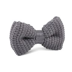 Light Grey Knitted Bow Tie |   Men's Suit Knitted Bow Tie for Men | Mens Wedding Knit Bow Tie Normal Knits Bow Tie Width Handmade Gentlemen Accessories for Guys | Buy Knitted Bow Tie Online Shop Australia | Knitted Bow Tie Men's Fashions | OTAA
