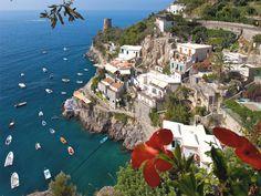Hotels lining the Amalfi Coast