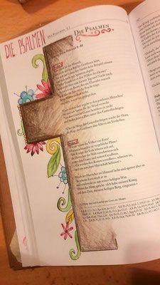 "Bible Art Journaling - die Psalmen / Psalms This English statement ""Psalm"" or maybe ""Psalms"" Art Journaling, Bible Journaling For Beginners, Bible Study Journal, Scripture Art, Bible Art, Bible Verses, Scriptures, Psalm 41, Bibel Journal"