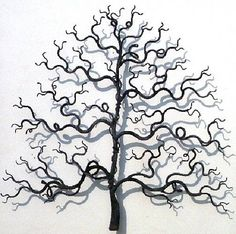 Tree themed metal wall art and sculpture by Christopher Townsend Metal Walls, Metal Wall Art, Tree Sculpture, Sculptures, Metal Tree, Sticker Shop, Grape Vines, Wall Stickers, Wall Mount