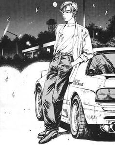 Initial D Ryosuke Takahasi and The White Comet *mazda rx7 FC*