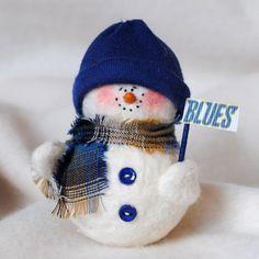 St Louis Blues Snowman Ornament by KarensSnowmen on Etsy, $9.00