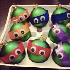 Bolas de navidad de las tortugas ninja.