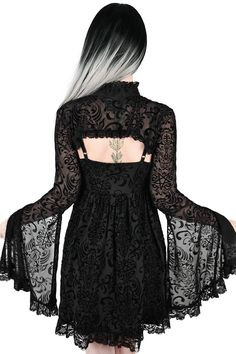 Killstar Shadows Bolero up to Modern Witch Fashion, Dark Fashion, Gothic Fashion, Witch Dress, Witch Outfit, Teen Fashion Outfits, Cool Outfits, Fasion, Rockabilly