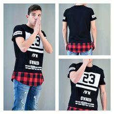Look of the day: MONDAY MORNING! Ανδρικό t-shirt με τύπωμα και καρώ τελείωμα. Διαθέσιμο σε: Μαύρο, Λευκό, Κίτρινο  #metaldeluxe #men #mensclothes #mensfashion #menstshirt #menstyle #fashion #shopping #onlineshopping #tshirt #black #plaid #redplaid
