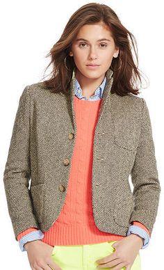Polo Ralph Lauren Silk-Wool Herringbone Jacket - $139.99