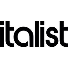 Italist Logo ❤ liked on Polyvore featuring text, logo, phrase, quotes y saying