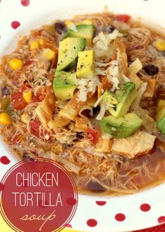 Tortilla Soup The BEST Chicken Tortilla Soup recipe - easy and delicious - the best kinds of recipes!The BEST Chicken Tortilla Soup recipe - easy and delicious - the best kinds of recipes! Easy Soup Recipes, Chicken Recipes, Healthy Recipes, Chicken Soups, Healthy Soup, Rotisserie Chicken Soup, Recipe Chicken, Delicious Recipes, Slow Cooker Recipes