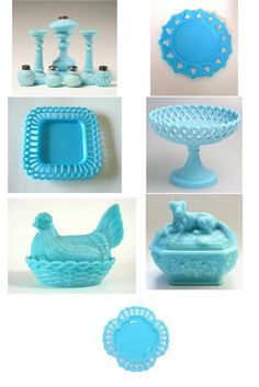 blue milk glass - want to collect