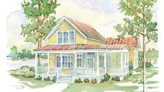 Cottage Living. Residential Designer:Eric MoserSize:1,807 square feetPlan Name:Meritta Creek #1877;houseplans.southernliving.com  Why We Love ItThis petite plan by residenti
