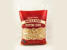 Trader Joe's organic popping corn http://www.prevention.com/food/healthy-eating-tips/100-cleanest-packaged-food-awards-2013-snacks-treats/slide/4