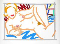 Tom Wesselman Nude Lithograph : Lot 75. Nude lithograph by Tom Wesselman (1931-2004).(Key Word Search: David Hockney, Jeff Koons, Roy Lichtenstein, Jim Dine, James Rosenquist, Claes Oldenburg, Alex Katz, Pop, Nude, Beach)