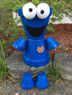 Cookie Monster Pot Person Sealed to be by GARDENFRIENDSNJ on Etsy
