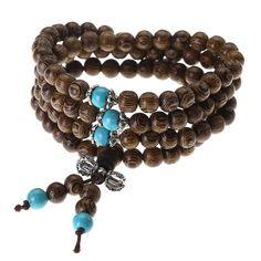 JOVIVI Tibetan 108 6mm 8mm Natural Wenge Wood Prayer Beads Buddha Mala Buddhist Bracelet Necklace >>> Visit the image link more details.