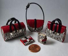 Miniaturas bolsos: Bolsos con estampado cebra
