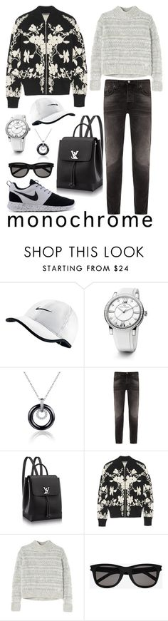 """""""Monochrome"""" by jamie1975 ❤ liked on Polyvore featuring NIKE, David Yurman, Nudie Jeans Co., Alexander McQueen, Rebecca Taylor, Yves Saint Laurent and monochrome"""