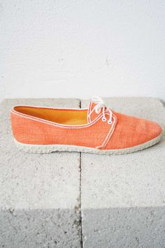 Orange Canvas Shoes
