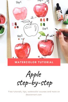 Painting Ideas: Paint an Apple Step By Step