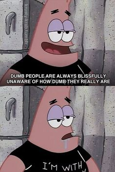 Patrick Star actually having a smart moment