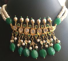 Tanmaniya NecklaceIndian Wedding Jewelry Statement by MahrukhD, $45.00