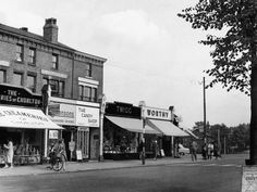 Chorlton, Manchester c 1955 Manchester Street, South Manchester, Altrincham, Rochdale, British Countryside, Salford, Derbyshire, History Facts, Old Photos