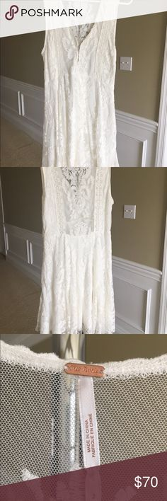 Free people lace dress Free People off white lace dress. New condition..only worn once. Dresses Midi