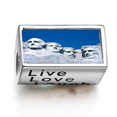 Soufeel 925 Sterling Silver Travel Mount Rushmore Words Live Love Laugh Photo Charms *** Read more reviews of the product by visiting the link on the image.