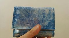 Leather wallet blue wallet abstract leather by BellyPork on Etsy