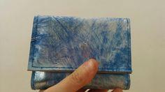 Cartera de piel, cartera de cuero, cartera de hombre, cartera mujer, monedero mujer, cartera azul, monedero azul, cartera abstracta,monedero