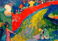 Wassily Kandinsky (1909) Cupolas. Oil on board, 85 x 116 cm (33 1/2 x 45 5/8 in.) State Art Gallery, Astrakstan