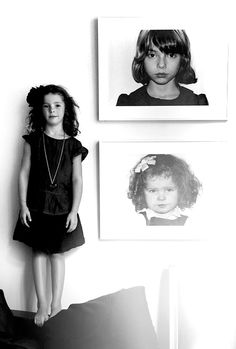 black and white children's portraits, Cynthia Rowley's kids on The Glow