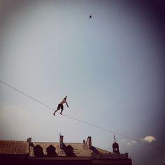 I learn a new thing every single day   #lublin #poland #polska #bestofpoland #igerspoland #ejc #ejc2012 #sky #skyporn #bird #silhouette #highlining #eb #earlybird #gmy #clubsocial #instagram #instagood #instamood #instagramhub #statigram #instaaaaah - @aszad- #webstagram