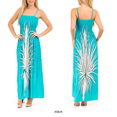 Juniors' Abstract Print Summer Maxi Dress with Adjustable Straps - Assorted Colors at 75% Savings off Retail!