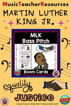 FromMusic Teacher Resources, these 26 digital task cards on the BOOM Learning™ website are fun, educational and engaging activities to reinforce the concept of rhythm! Each card gives the student one bass note to identify. This game uses both bass lines and spaces. The pitches used are all notes on the lines and spaces from first line G to middle C above the staff. ♫ ♫ #musiceducation #mtr #boomcardsformusic #boomcards