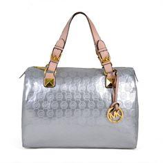 Michael Kors Bags Grayson Satchels Monogram Silver