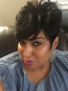 Discover more about black hairstyles for natural hair 27 Piece Hairstyles, Short Relaxed Hairstyles, Permed Hairstyles, Weave Hairstyles, Black Hairstyles, Pixie Haircut For Thick Hair, Short Sassy Hair, Short Straight Hair, Short Hair Cuts