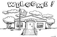 School clip art black and white utility for everybody *Share Submit Download free Welcome to kindergarten Kindergarten schools Elementary schools