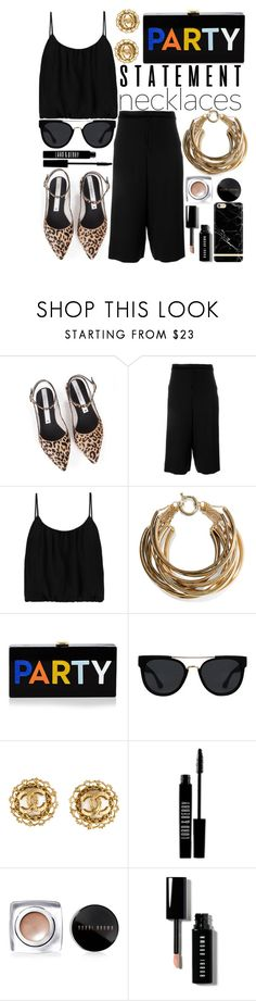 """""""Collared! Statement Necklaces"""" by sc-styles ❤ liked on Polyvore featuring Zolà, Alice + Olivia, Rosantica, Milly, Quay, Chanel, Lord & Berry, Bobbi Brown Cosmetics and Richmond & Finch"""