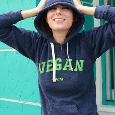 New to the vegan club? Show the world what vegans look like with the #PETA vegan hoodie! Now available in the PETA catalog #WhatVegansWear